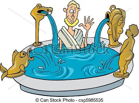 Roman baths clipart.
