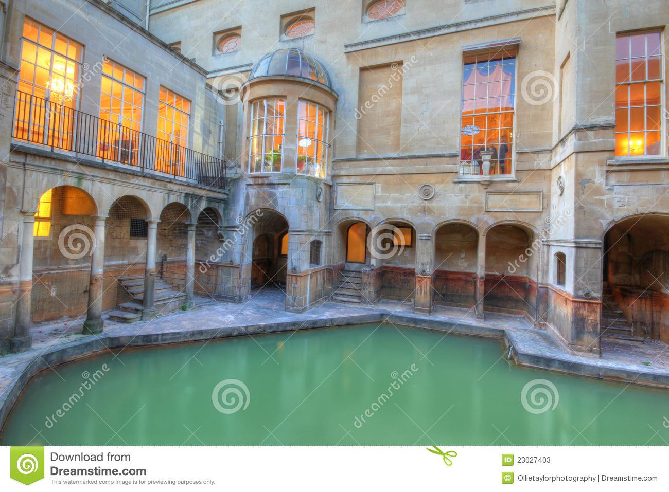 Roman Baths Royalty Free Stock Photography.
