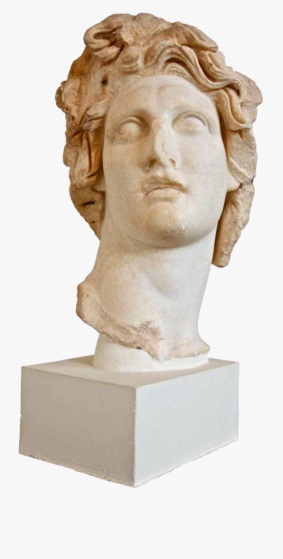 Vaporwave Clipart Roman Statue.