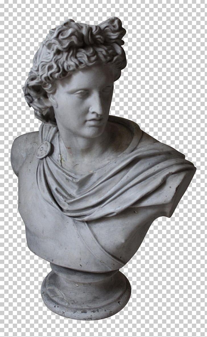 Apollo Belvedere Bust Marble Sculpture Vatican Museums PNG.