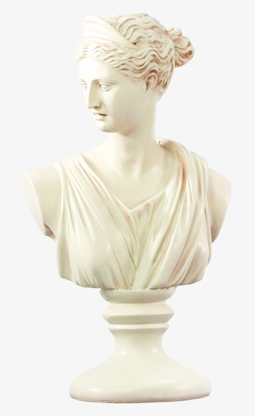 Download Free png Roman Woman Statue Bust 673x1256 PNG.
