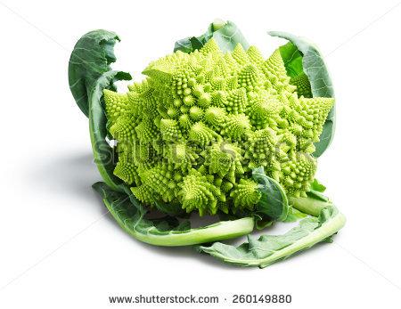 Romanesco Cauliflower Stock Photos, Royalty.