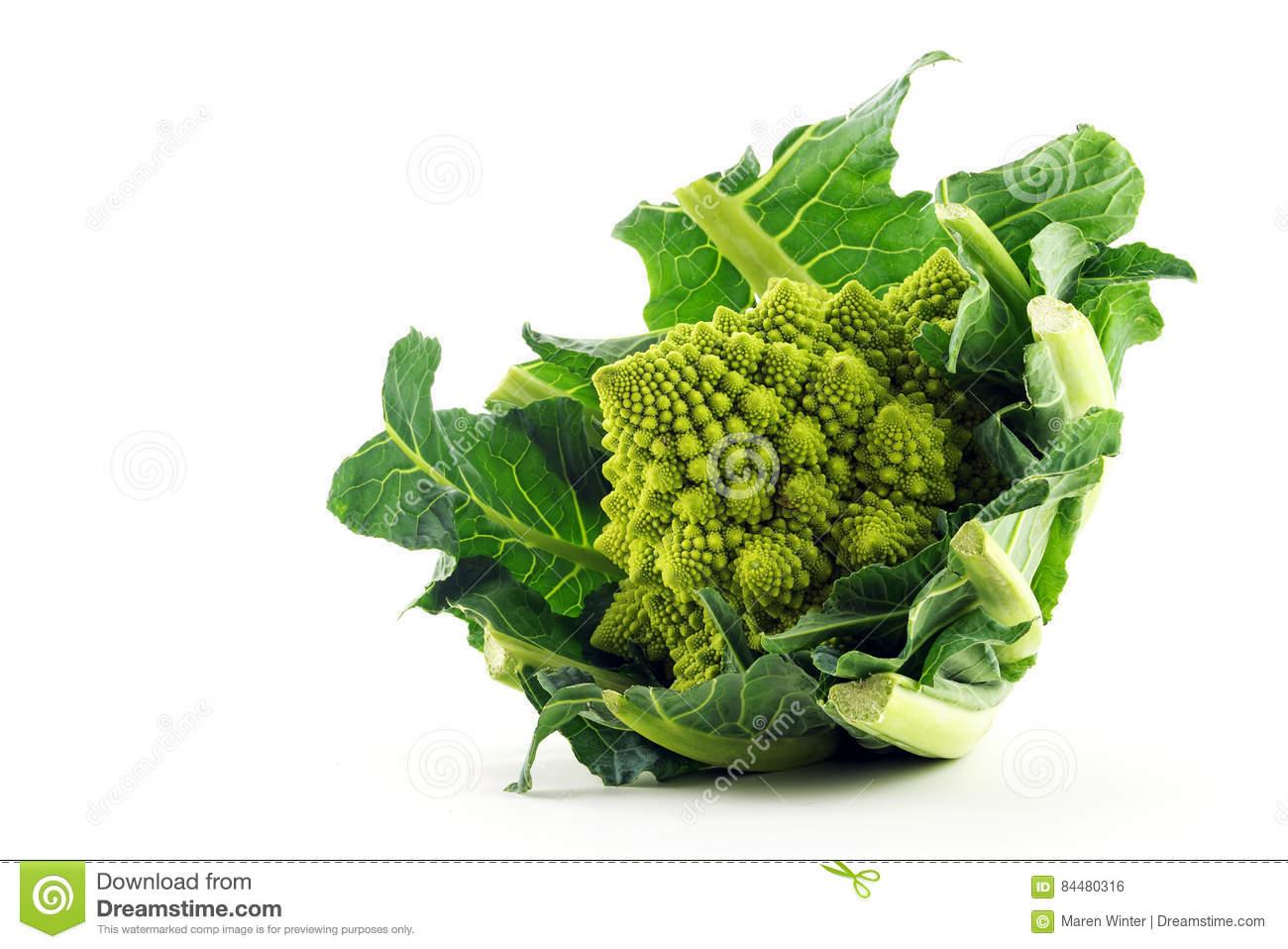 Romanesco Broccoli , Roman Cauliflower Royalty Free Stock.