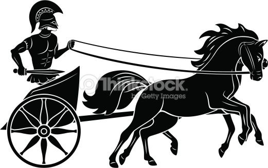 The figure shows a chariot with a gladiator in 2019.