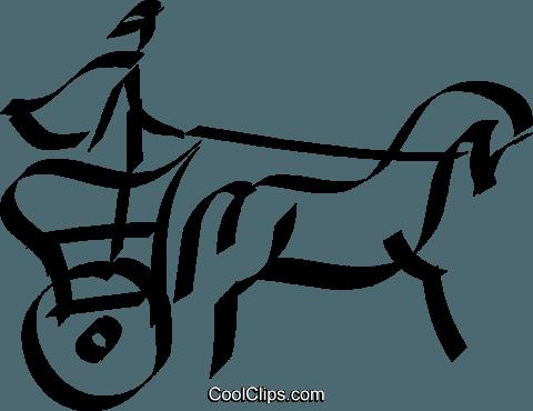 Roman Chariot Royalty Free Vector Clip Art illustration.