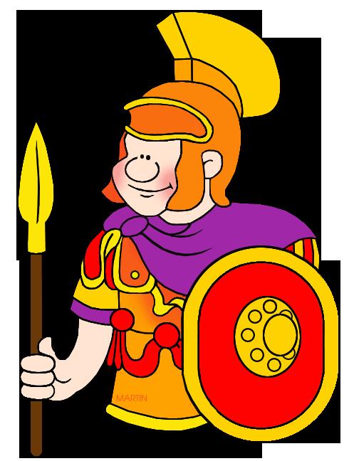 Free Rome Clip Art by Phillip Martin, Roman Soldier.