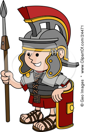 Free clipart roman soldier.