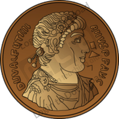 Roman coins.