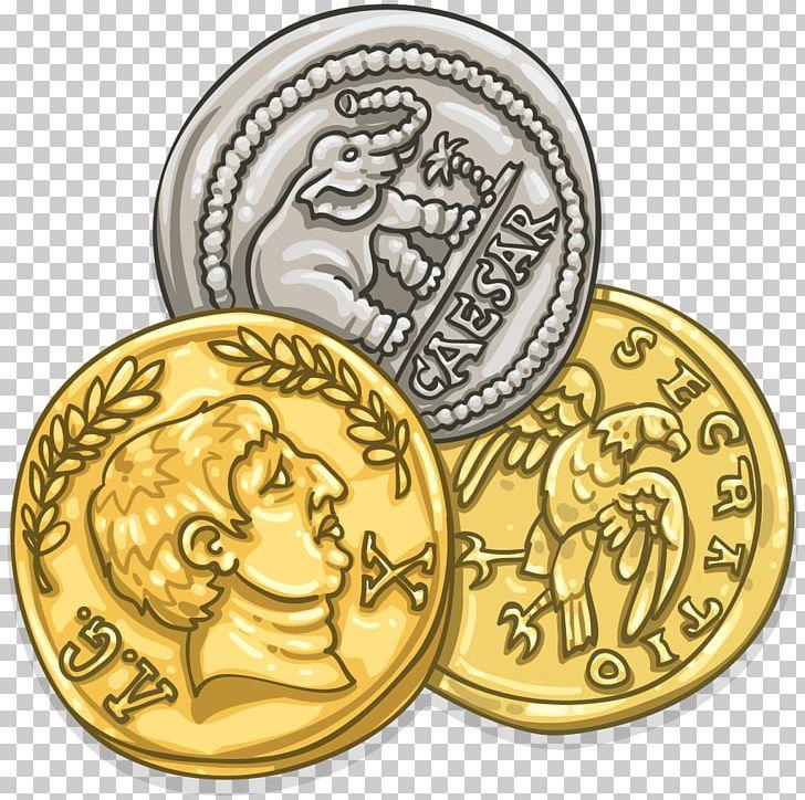 Roman Empire Coin Roman Currency Denarius Aureus PNG.