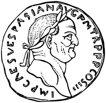 Roman coin Vespasian.