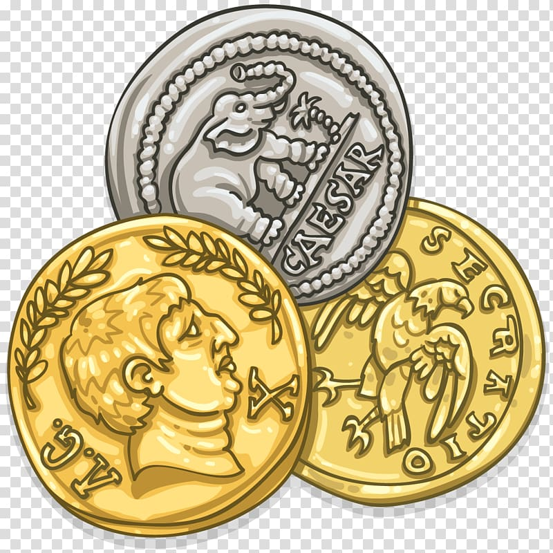Roman Empire Coin Roman currency Denarius Aureus, silver.