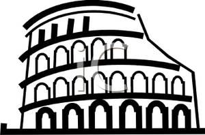 Picture: Black and White Roman Coliseum.