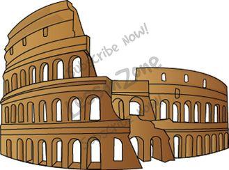 Roman Colosseum Clip Art.