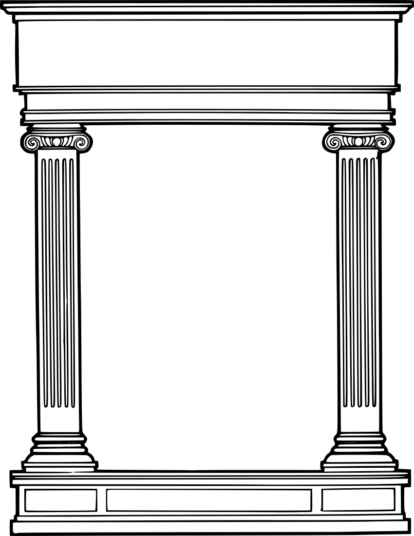 Roman columns border.