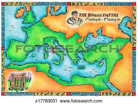 Clipart of Map of the Roman Empire x17783031.