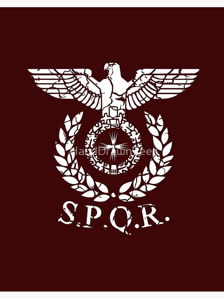 \'Roman Emblem SPQR\' Art Board Print by HandDrawnTees.