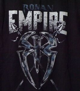 Details about WWE Roman Empire Spare No One Spear Everyone Roman Reigns  2016 T Shirt Wrestling.
