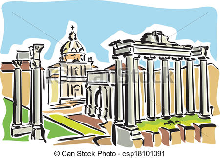 Roman forum Clipart and Stock Illustrations. 248 Roman forum.