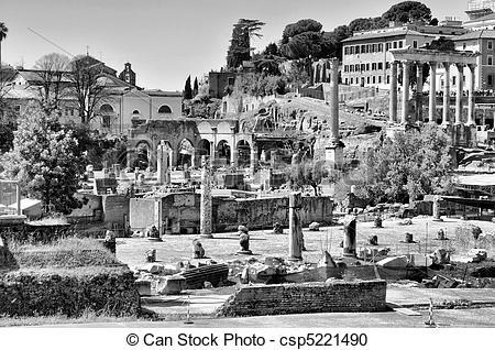 Stock Photography of Roman Forum, Rome.