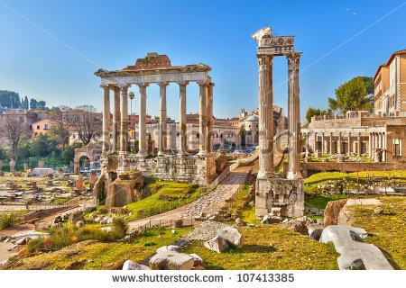 Roman Forum Stock Photos, Royalty.