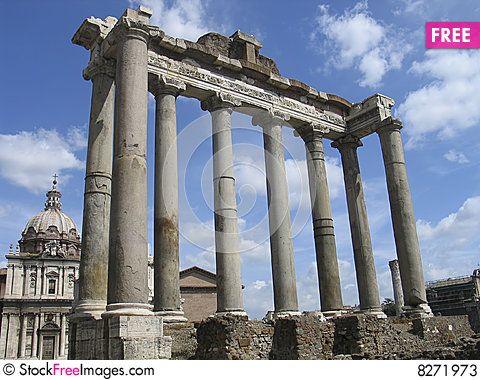 Rome: The Ruins Of The Ancient Roman Forum.