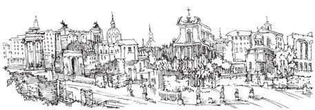 Roman forum clipart.