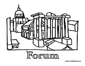 Rome Coloring Pages.