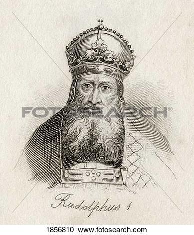 Stock Photography of Rudolf I Of Germany (Latin Rudolfus) 1218.