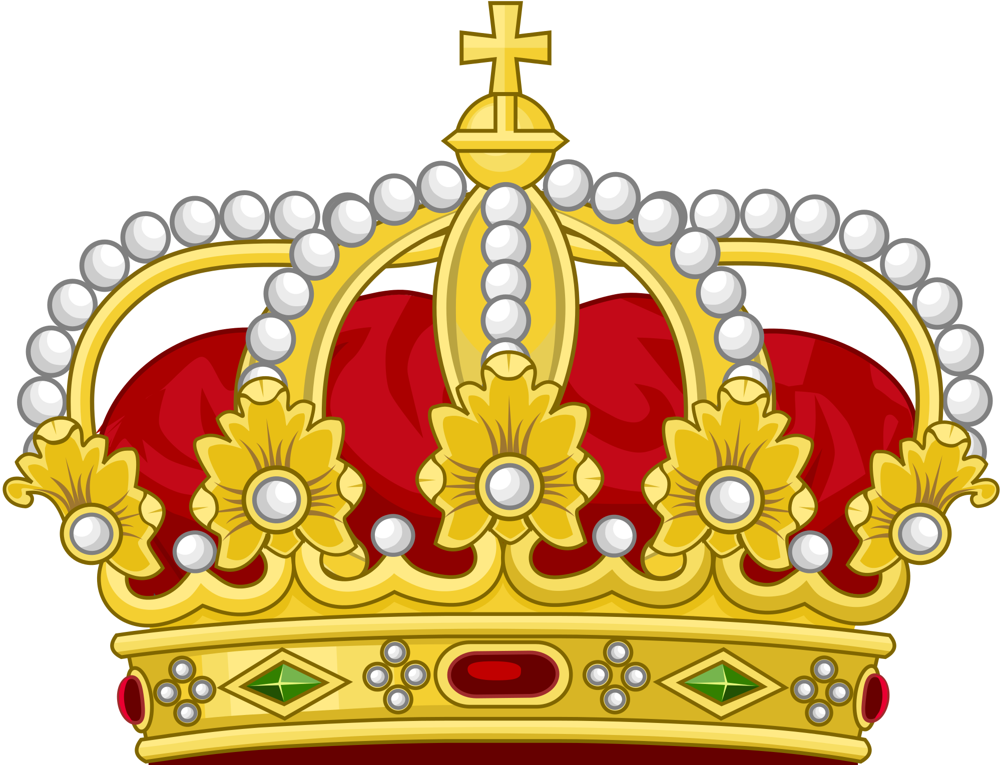File:Heraldic Royal Crown of the King of the Romans (18th Century.
