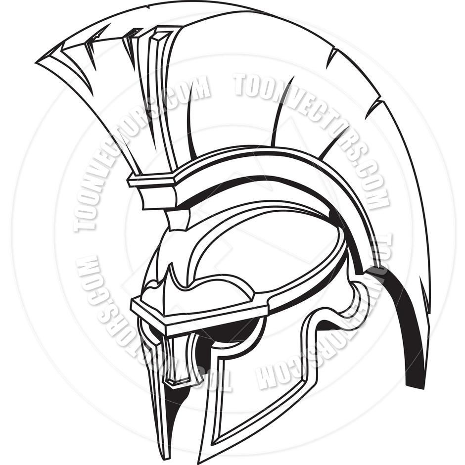 Roman Gladiator Helmet Clipart.