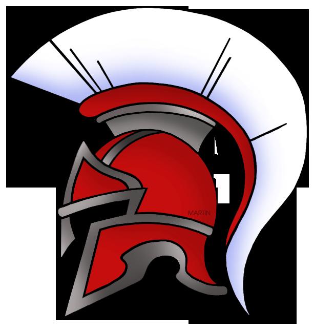 Roman helmet clip art.