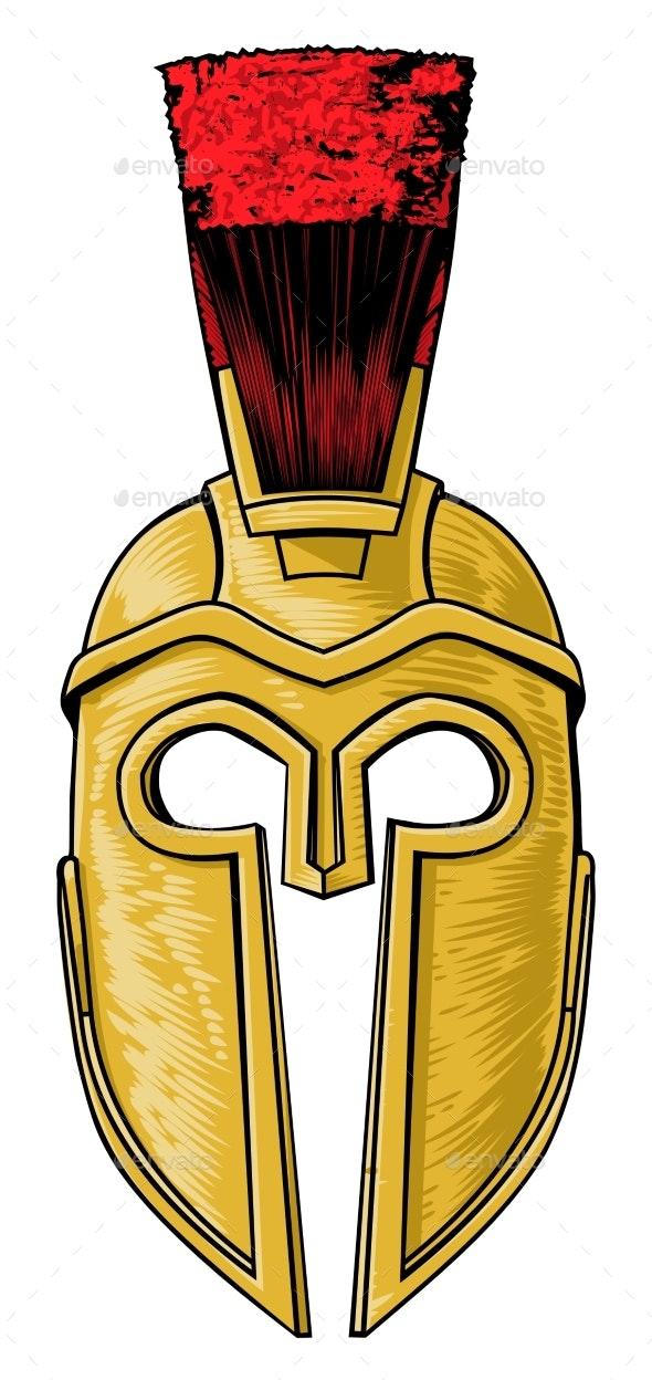 Ancient Greek Spartan Trojan Roman Helmet.