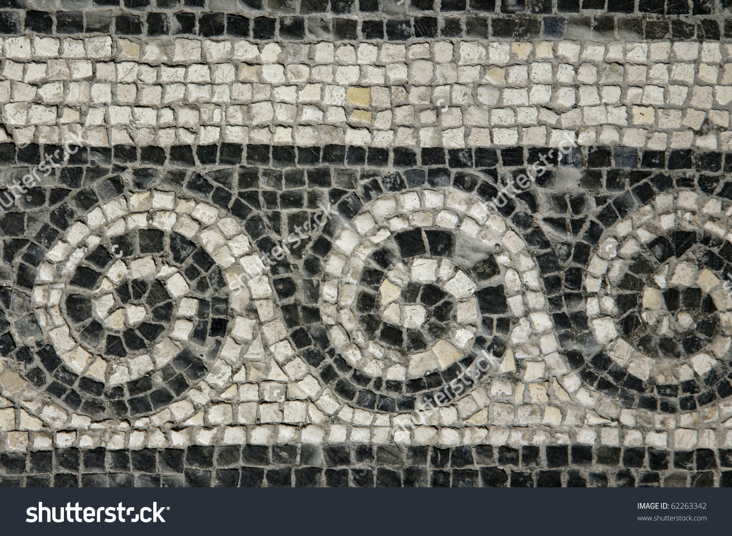 Roman Mosaic Roman House Spoleto Stock Photo 62263342.