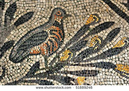 Roman Mosaic Stock Images, Royalty.
