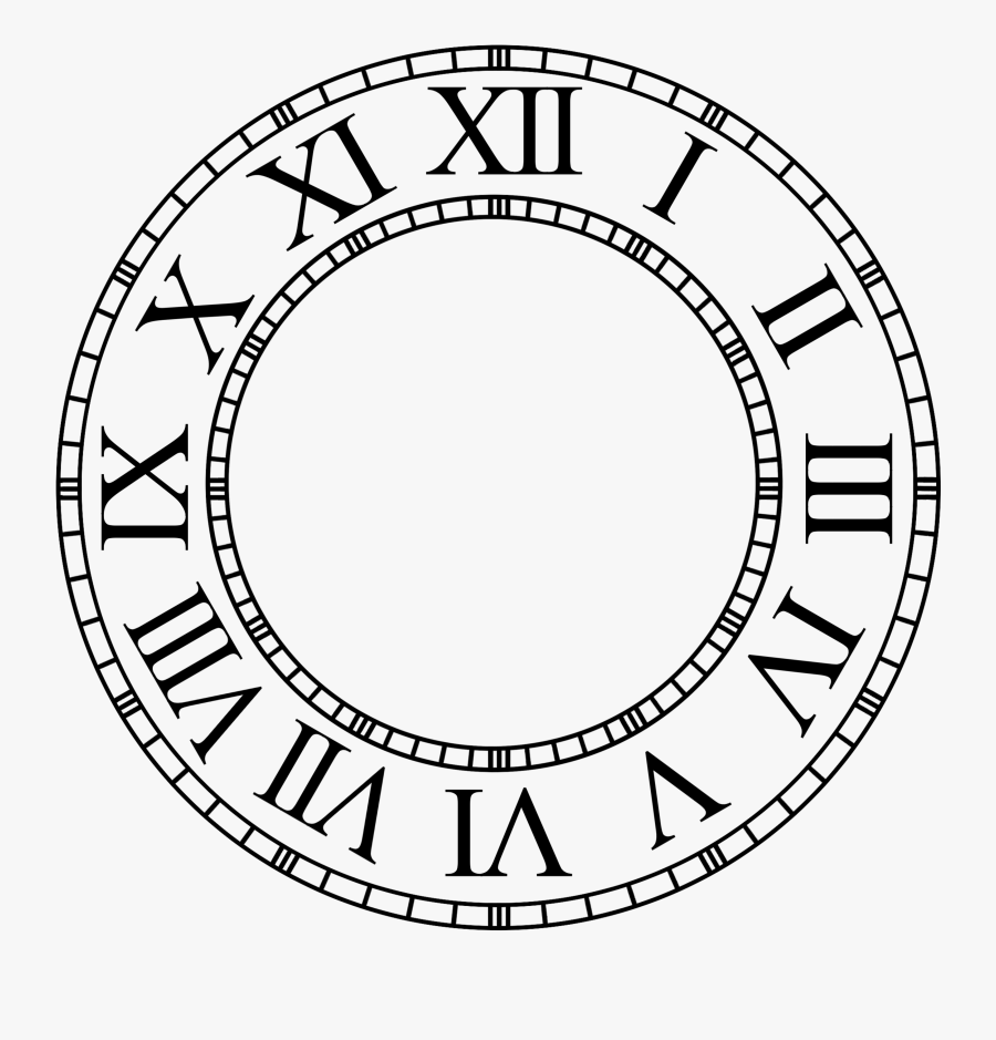 Roman Numeral Clock Png , Free Transparent Clipart.