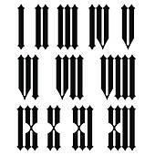 Roman Numerals Clip Art.