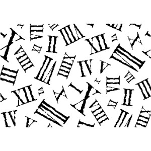 ROMAN NUMERALS Rubber Stamps.