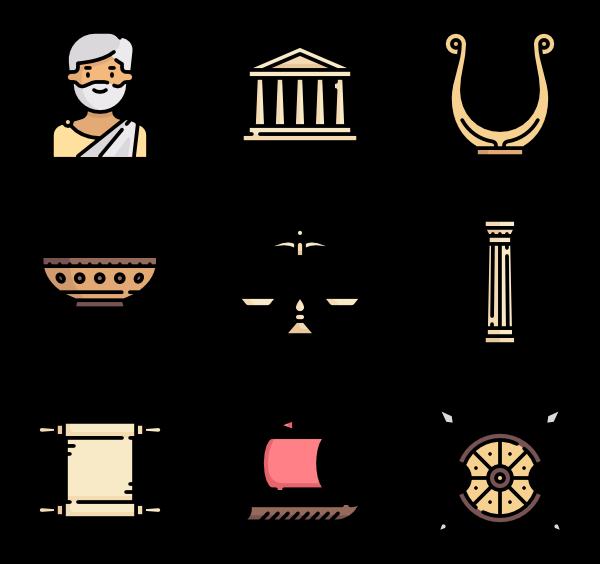 9 roman icon packs.