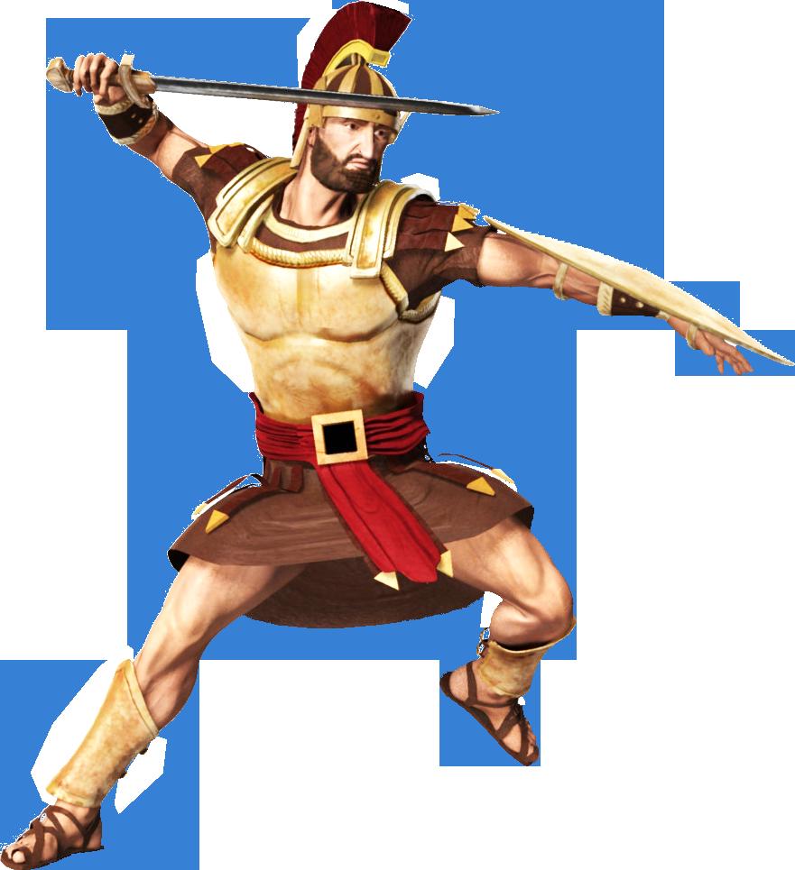 Roman Soldier transparent background.