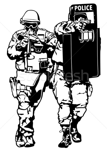 Special Police Forces vector illustration © Roman Dekan (derocz.