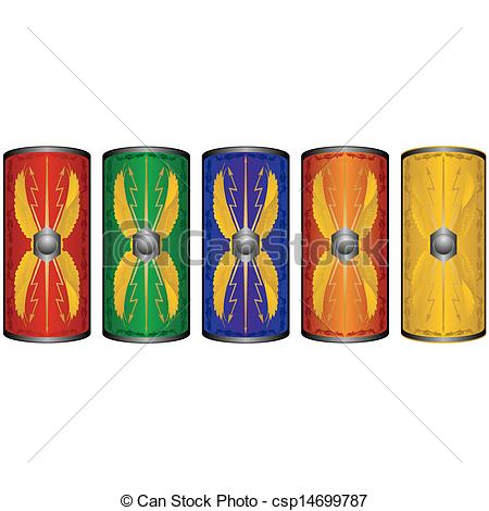 Roman shield clipart.