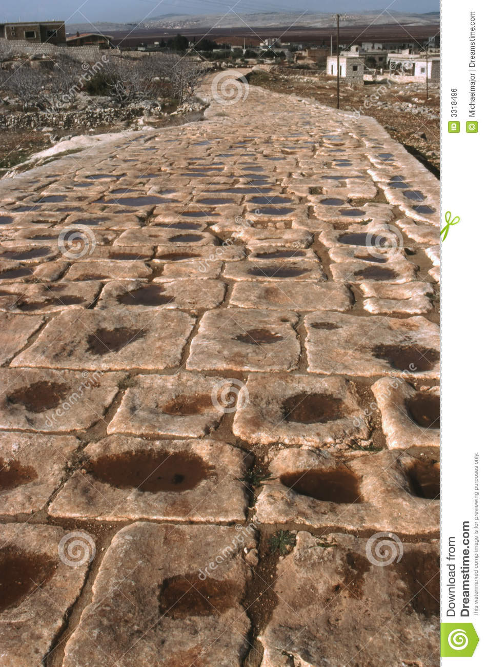 Roman Road Syria Royalty Free Stock Image.