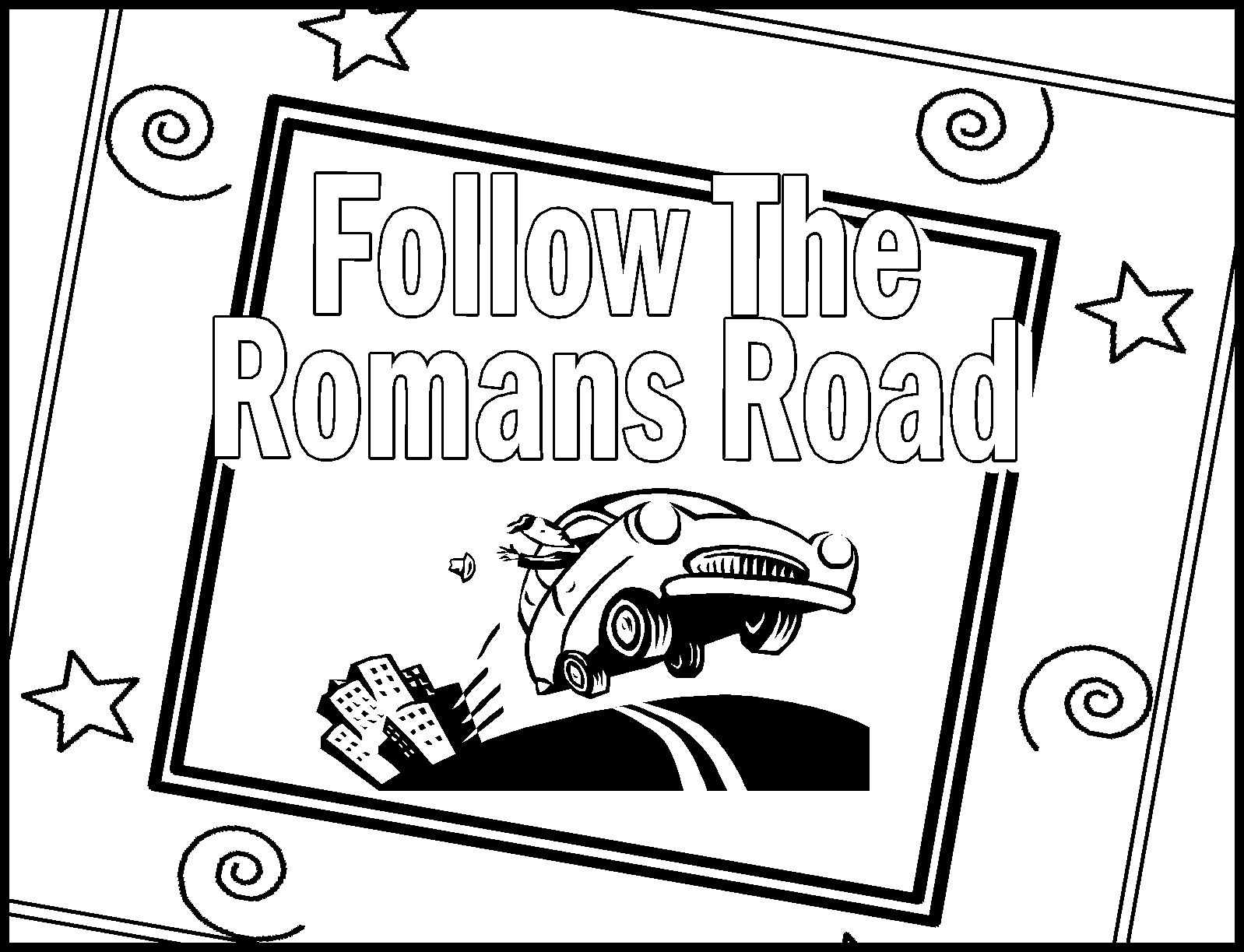 Roman road to salvation clipart.