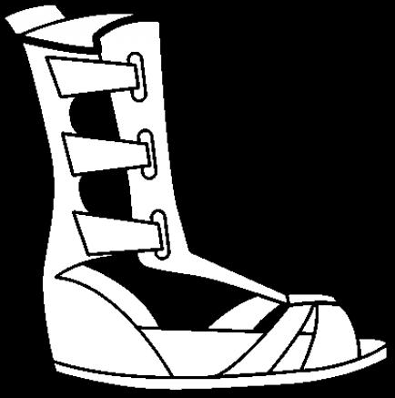 Sandal Clipart Roman Sandal.