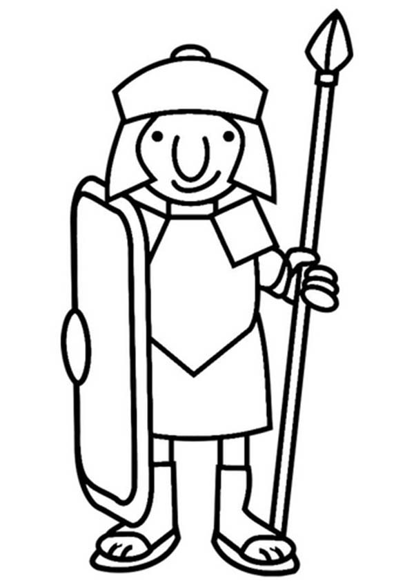 Free Roman Soldier Clipart Black And White, Download Free.
