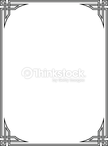 Roman Style Black Ornamental Decorative Frame Vector Art.
