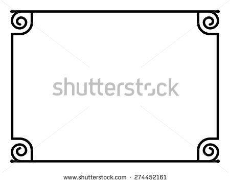 Roman Border Stock Images, Royalty.