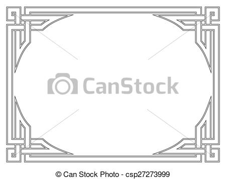 EPS Vectors of Roman style black ornamental decorative frame.