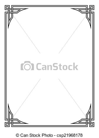 Vectors Illustration of Roman style black ornamental decorative.