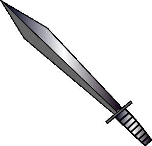 2606 Sword free clipart.